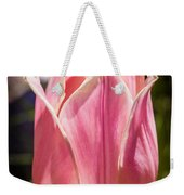 Pretty Pouting Pink Tulip Abstract Garden Art By Omaste Witkowsk Weekender Tote Bag