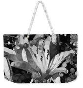 Pretty Pouting Pleasures A Black And White Painting Weekender Tote Bag