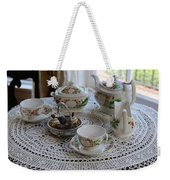 Pretty Tea Set Weekender Tote Bag