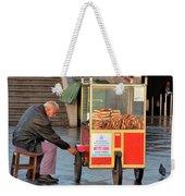 Pretzel Seller With Pushcart Istanbul Turkey Weekender Tote Bag
