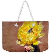 Prickly Pear And Bee Weekender Tote Bag