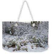 Prickly Pear And Saguaro Cacti Weekender Tote Bag