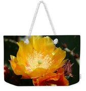 Prickly Pear Blossom Weekender Tote Bag