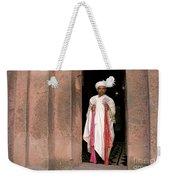 Priest At Ancient Rock Hewn Churches Of Lalibela Ethiopia Weekender Tote Bag