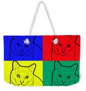 Primary And Green Cats Weekender Tote Bag
