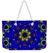 Primary Colors Fractal Kaleidoscope Weekender Tote Bag