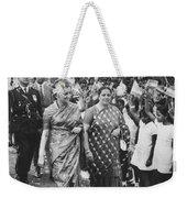 Prime Minister Indira Gandhi Weekender Tote Bag