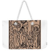 Primitive Crucifixion Weekender Tote Bag