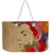Prince Watercolor Portrait On Worn Distressed Canvas Weekender Tote Bag