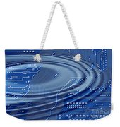 Printed Circuit With Waves Weekender Tote Bag