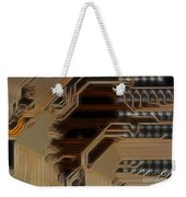 Printed Curcuit Weekender Tote Bag by Michal Boubin