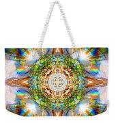 Prism Rainbow Mandala Weekender Tote Bag