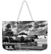 Pristine Pool Bw Marrakesh Palm Springs Weekender Tote Bag