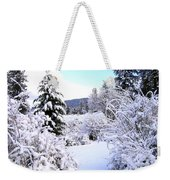 Pristine Winter Trail Weekender Tote Bag
