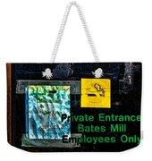 Private Entrance Weekender Tote Bag