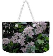 Privet Blossoms 2 Weekender Tote Bag
