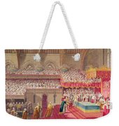 Procession Of The Dean And Prebendaries Of Westminster Bearing The Regalia, From An Album Weekender Tote Bag
