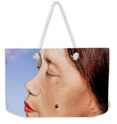 Profile Of A Filipina Beauty With A Mole On Her Cheek Altered Version Weekender Tote Bag