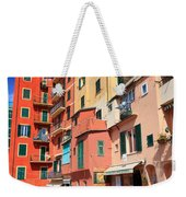 promenade and homes in Camogli Weekender Tote Bag