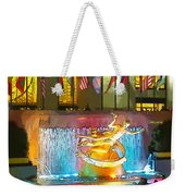 Prometheus Sculpture In Rockefeller Center  Weekender Tote Bag