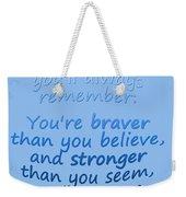 Promise Me - Winnie The Pooh - Blue Weekender Tote Bag