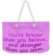 Promise Me - Winnie The Pooh - Pink Weekender Tote Bag