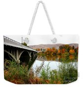Prosser Bridge And Fall Colors On The River Weekender Tote Bag
