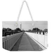 Prosser Bridge Perspective - Black And White Weekender Tote Bag