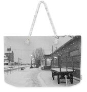 Prosser Winter Train Station  Weekender Tote Bag