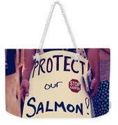 Protect Our Salmon Weekender Tote Bag