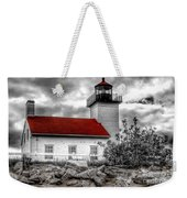 Protector Of The Harbor - Sand Point Lighthouse Weekender Tote Bag