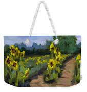 Provence Sunflower Field Weekender Tote Bag