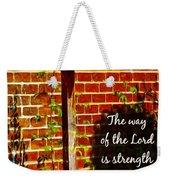 Proverbs 10 29 Weekender Tote Bag