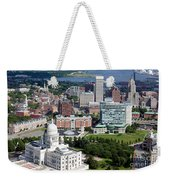 Providence Rhode Island Downtown Skyline Aerial Weekender Tote Bag