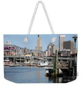 Providence River And Point St Bridge Weekender Tote Bag