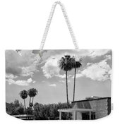 Ps City Hall Front Bw Palm Springs Weekender Tote Bag