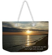 Psalm 119-105 Your Word Is A Lamp Weekender Tote Bag