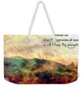 Psalm 119 134 Weekender Tote Bag