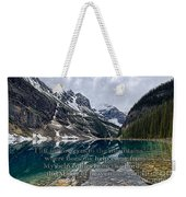 Psalm 121 With Mountains Weekender Tote Bag
