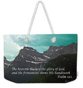 Psalm 19 1 On The Rocky Mountains Weekender Tote Bag