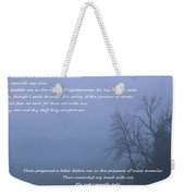 Psalm 23 Foggy Morning Weekender Tote Bag
