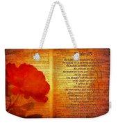 Psalm 23 Weekender Tote Bag