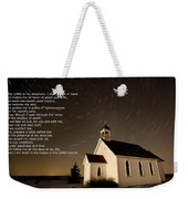 Psalm 23 Night Photography Star Trails Weekender Tote Bag