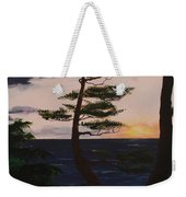 Psalms 136 Verse 7 And 8 Left Panel Weekender Tote Bag
