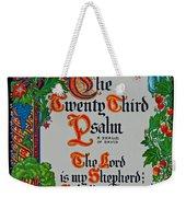 Psalms 23-1 Weekender Tote Bag