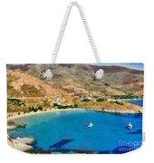 Psili Ammos Beach In Serifos Island Weekender Tote Bag