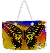 Psychedelic Butterfly Weekender Tote Bag