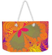 Psychedelic Butterfly Explosion Fractal 61 Weekender Tote Bag