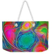 Psychedelic Colors Weekender Tote Bag by Anastasiya Malakhova