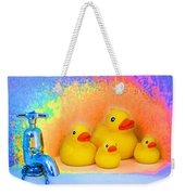 Psychedelic Ducks And Faucet Weekender Tote Bag